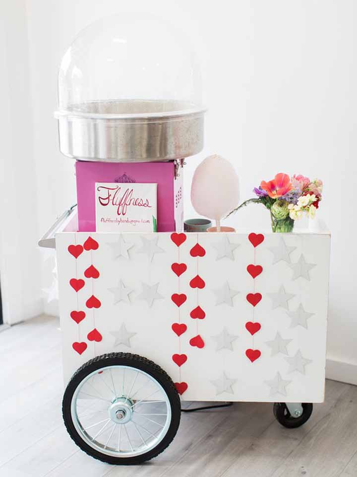 Personalize um carrinho só para servir os doces