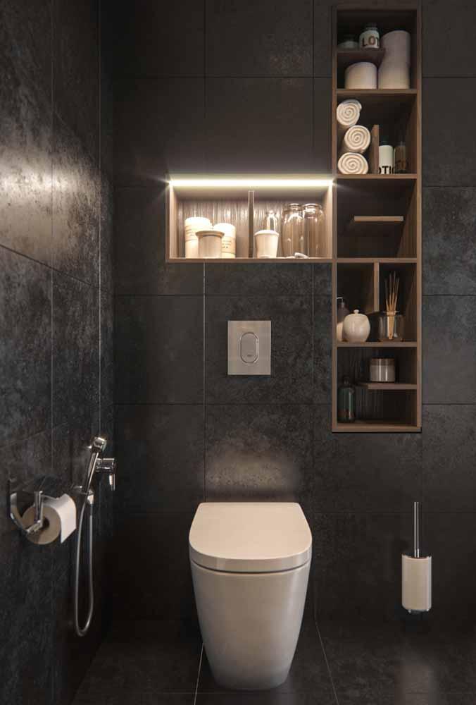 Em ambientes escuros, a fita de LED é uma ótima forma de trazer a luz para o ambiente de forma espalhada e sutil