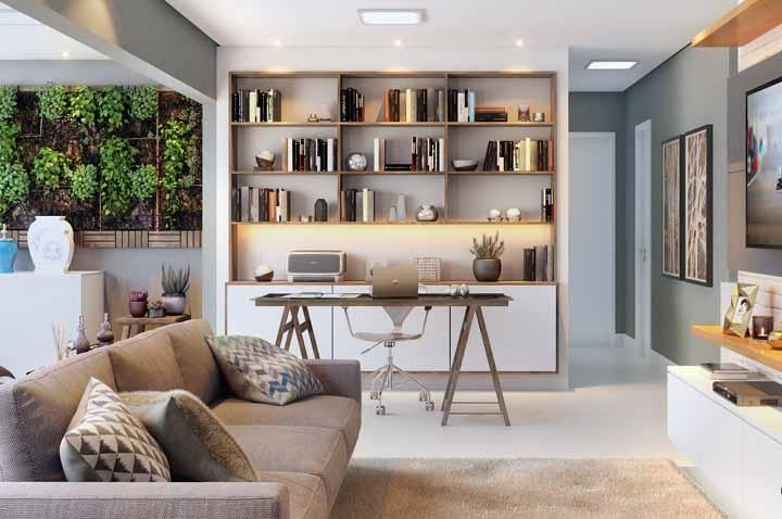 Para as estantes de escritórios, especialmente onde se mantêm documentos e livros importantes, as fitas de LED fazem um ótimo trabalho!