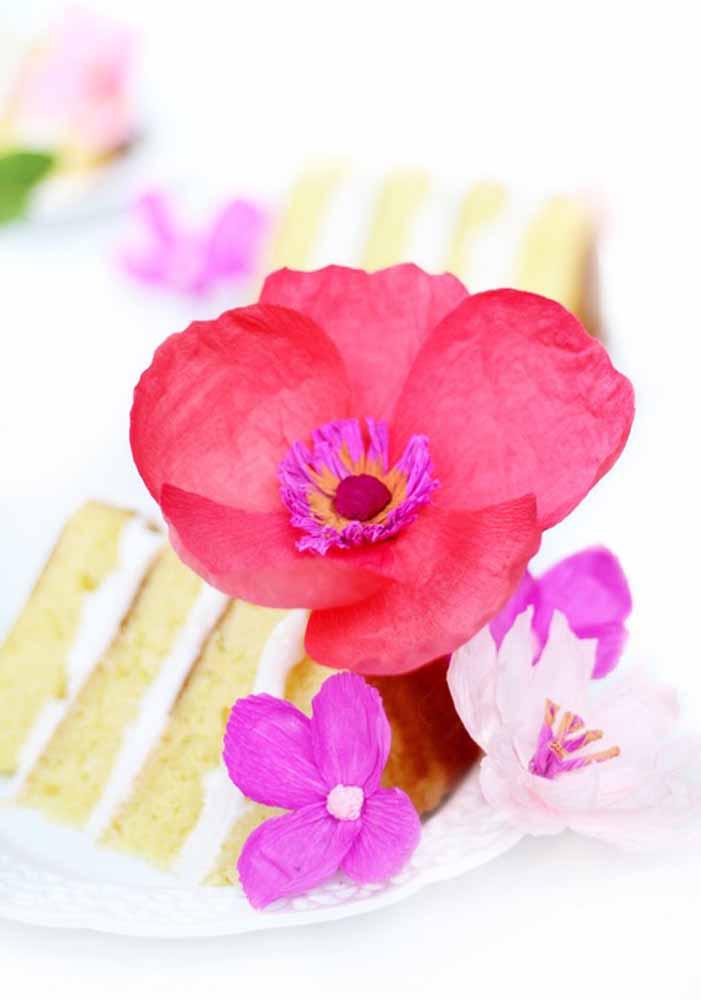 Flores de papel: Lindo agrado para os convidados da festa de aniversário