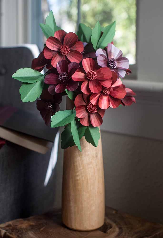 Flores de papel para o centro de mesa ou sala de estar
