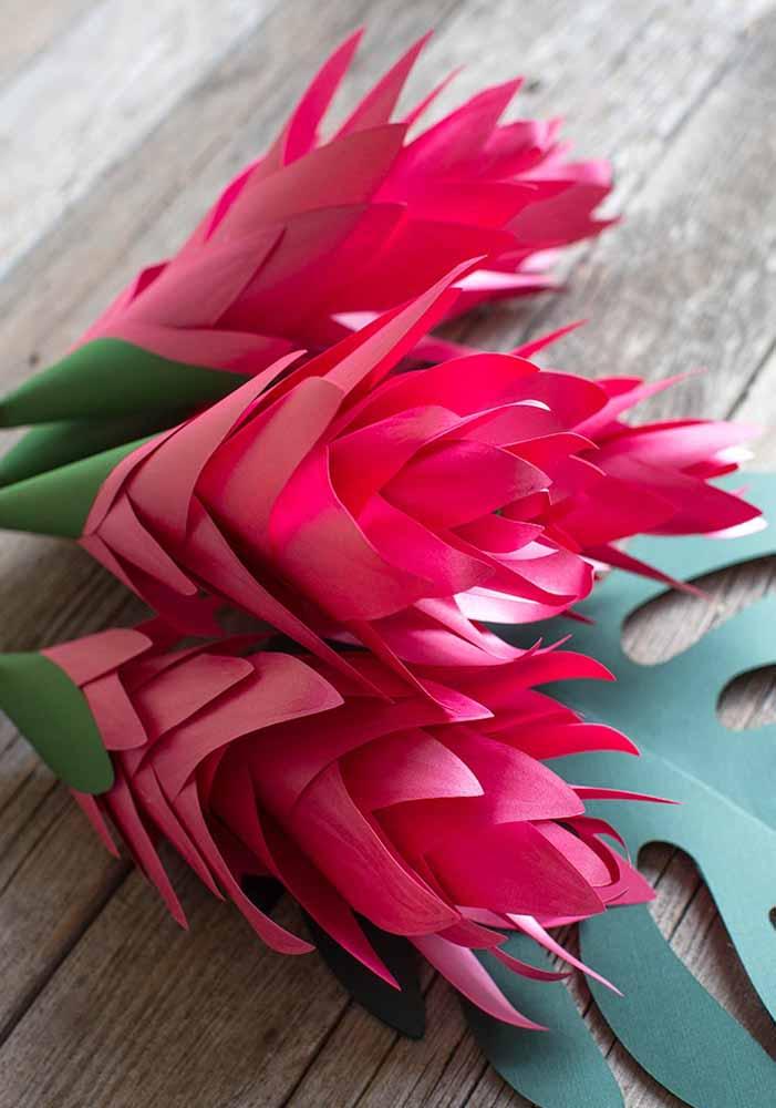 Flores de papel: Com sulfite, fácil, prática e barata