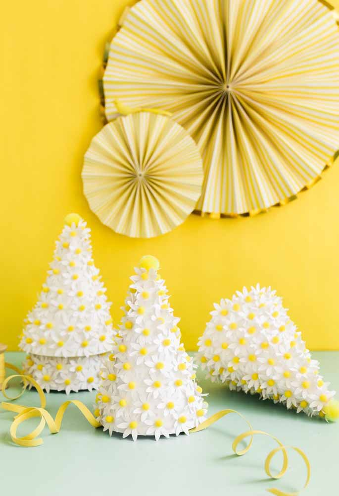 Margaridas de papel para decoração encantadora