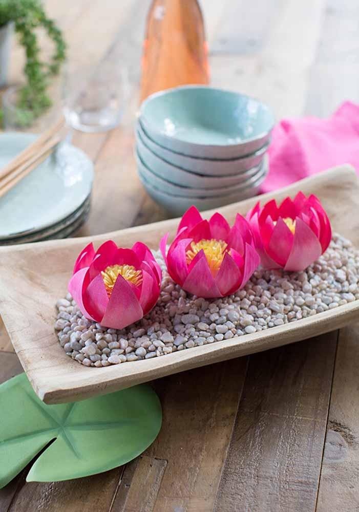 Flores de papel para mesa: Deslumbrante e totalmente delicado para a decoração