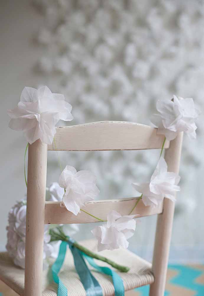 Flores de papel para decoração de casamento simples mas com grandes significados