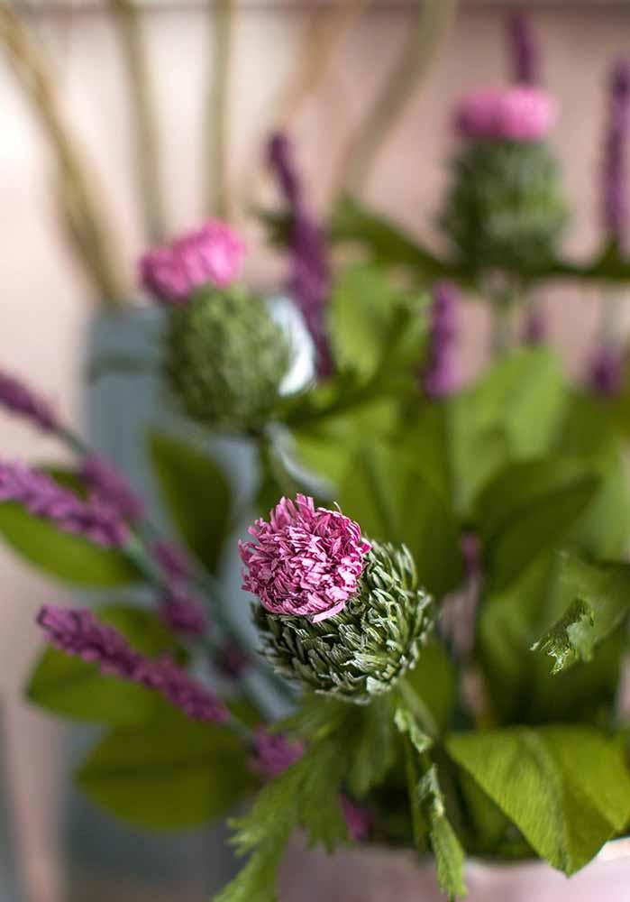 Beleza exótica e interessante dessa flor de papel