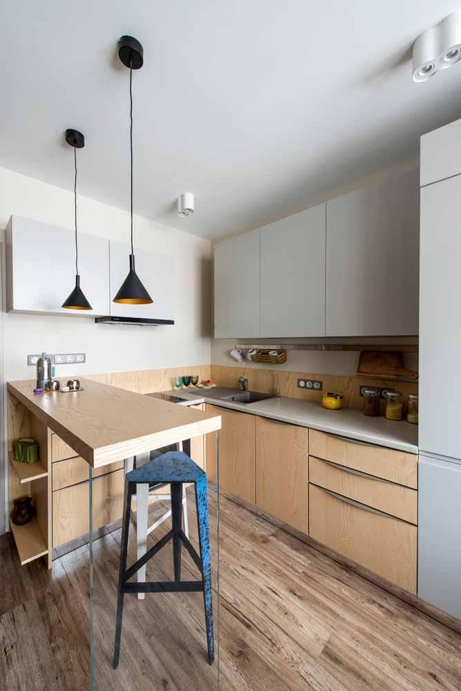 Modelo de cozinha americana pequena: aproveite e dê mais uma utilidade para o seu balcão
