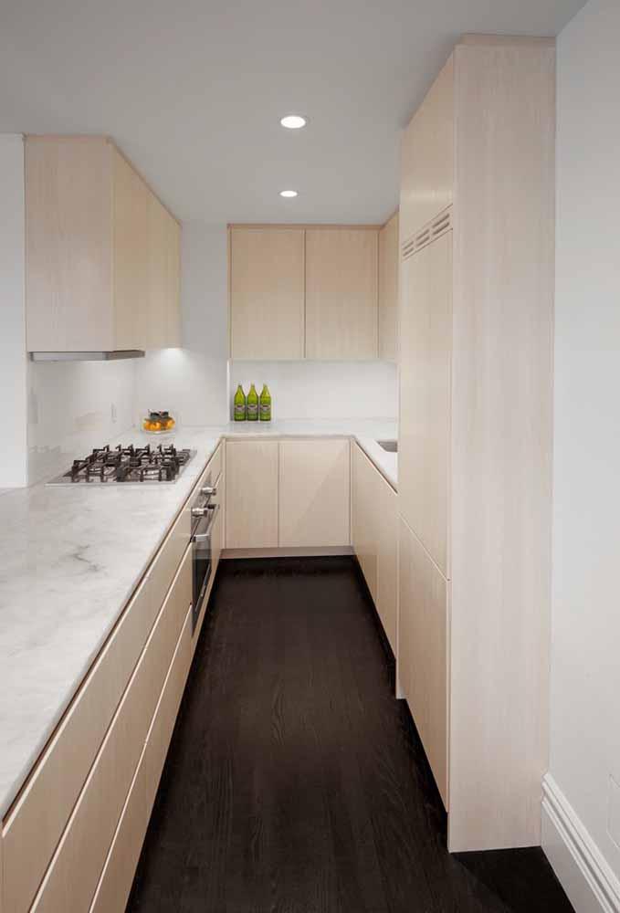 Modelo de cozinha simples: invista em tons pastéis para transmitir leveza na decoração