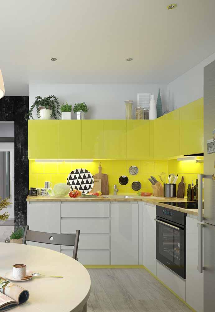 A cozinha em L proporciona melhor utilização dos espaços