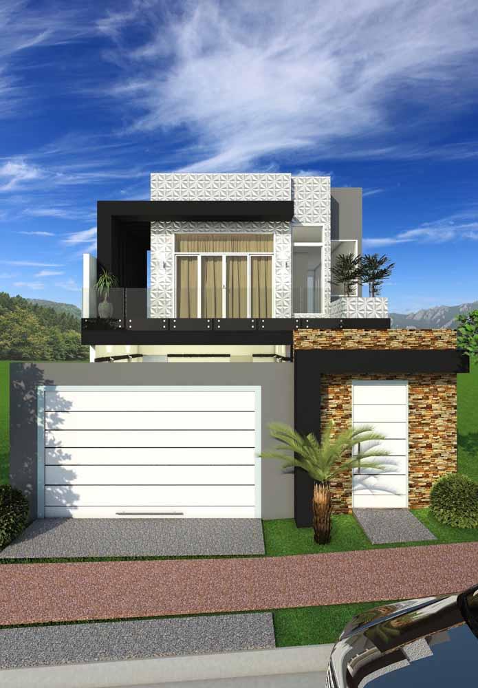 Planta de casa pronta para quem deseja um sobrado moderno