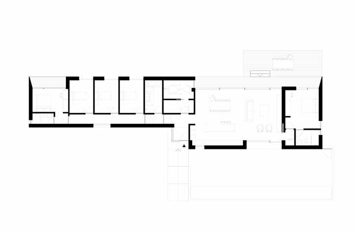 Distribuição e aproveitamento do espaço no projeto da Strom Architects