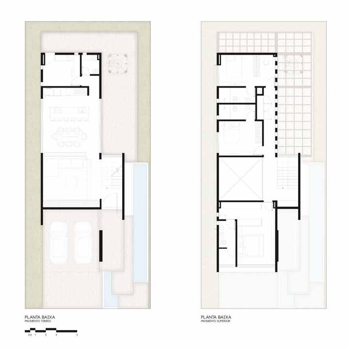 Casa moderna do Studio Bloco possui dois pavimentos bem distribuídos