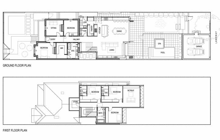 A planta baixa do interior da residência não deixa a desejar e inclui até um SPA