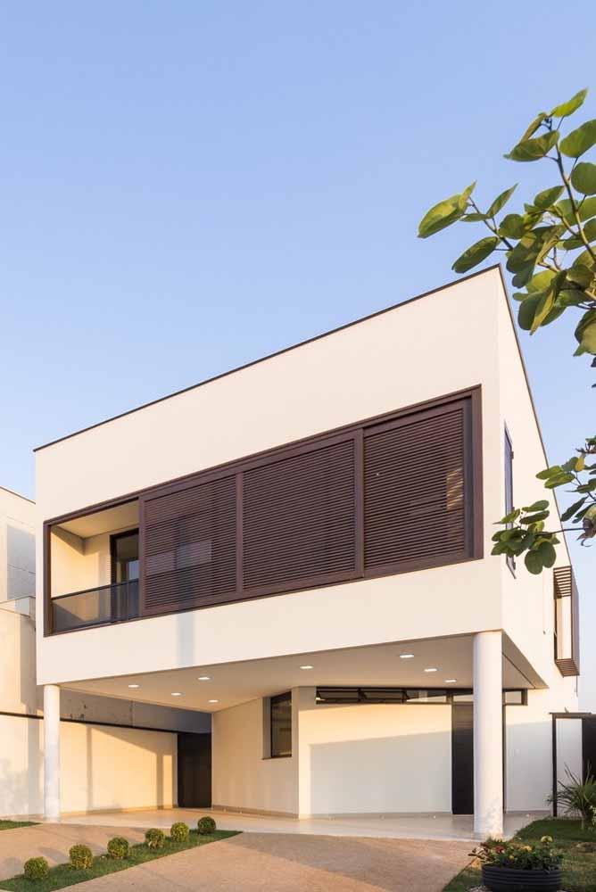 Fachada da DBP House projetada pelo escritório Vertentes Arquitetura
