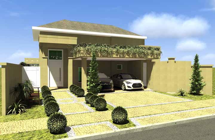 Essa outra planta de casa pronta mostra que tamanho não é sinônimo de casa bonita e aconchegante