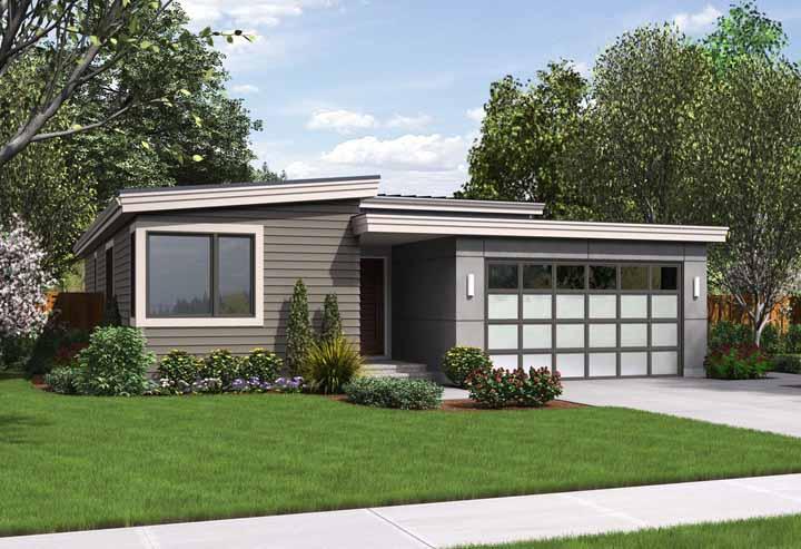 O escritório House Plans planejou uma casa que mora no inconsciente de muita gente: pequena, simples e acolhedora