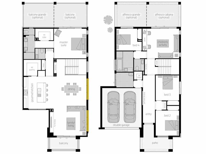 E nada mais moderno também do que ambientes integrados e isso essa casa tem de sobra, como mostra a planta baixa