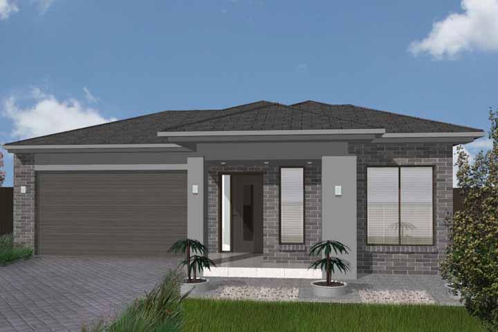 O cinza foi a cor escolhida para compor a fachada dessa casa projetada pelo escritório Bawa Builders