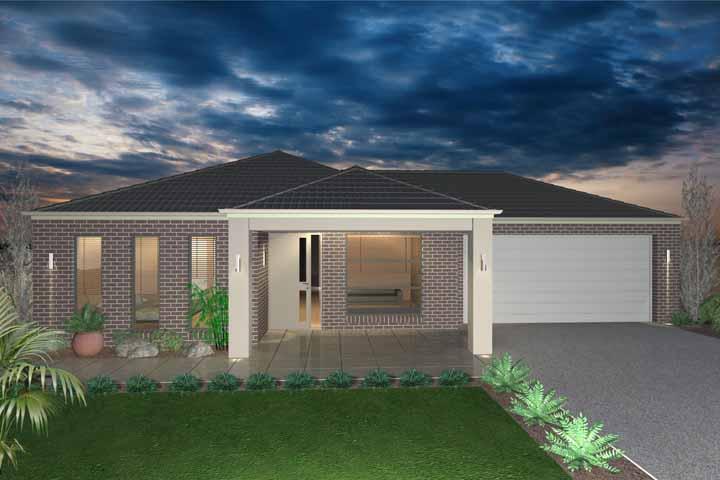 Já esse projeto do escritório Bawa Builders contempla uma casa com um belo gramado na frente
