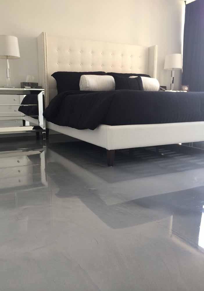 Um porcelanato líquido na cor cinza pode ser o que faltava para trazer aquele toque moderno e cheio de personalidade ao quarto