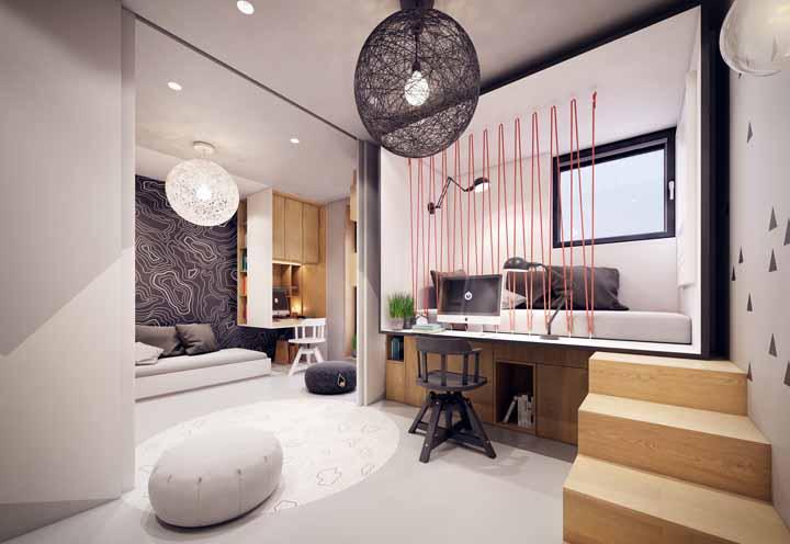 Ambientes integrados ficam mais valorizados com o porcelanato líquido, já que o piso monolítico destaca ainda mais essa integração