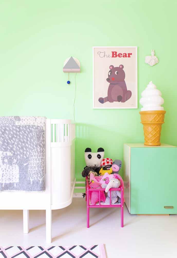 E mesmo que o seu projeto seja um quarto de bebê simples, isso não significa que você não pode usar cores vibrantes!
