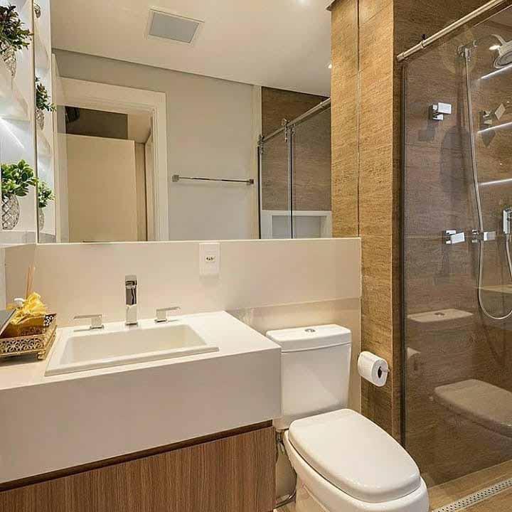 Espelhos são baratos e grandes aliados de espaços pequenos, já que ele amplia visualmente o ambiente