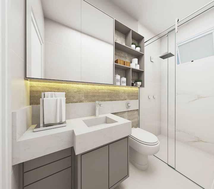 Iluminação com fita de LED e toalheiro de bancada: mais duas soluções simples e baratas para a decoração do banheiro
