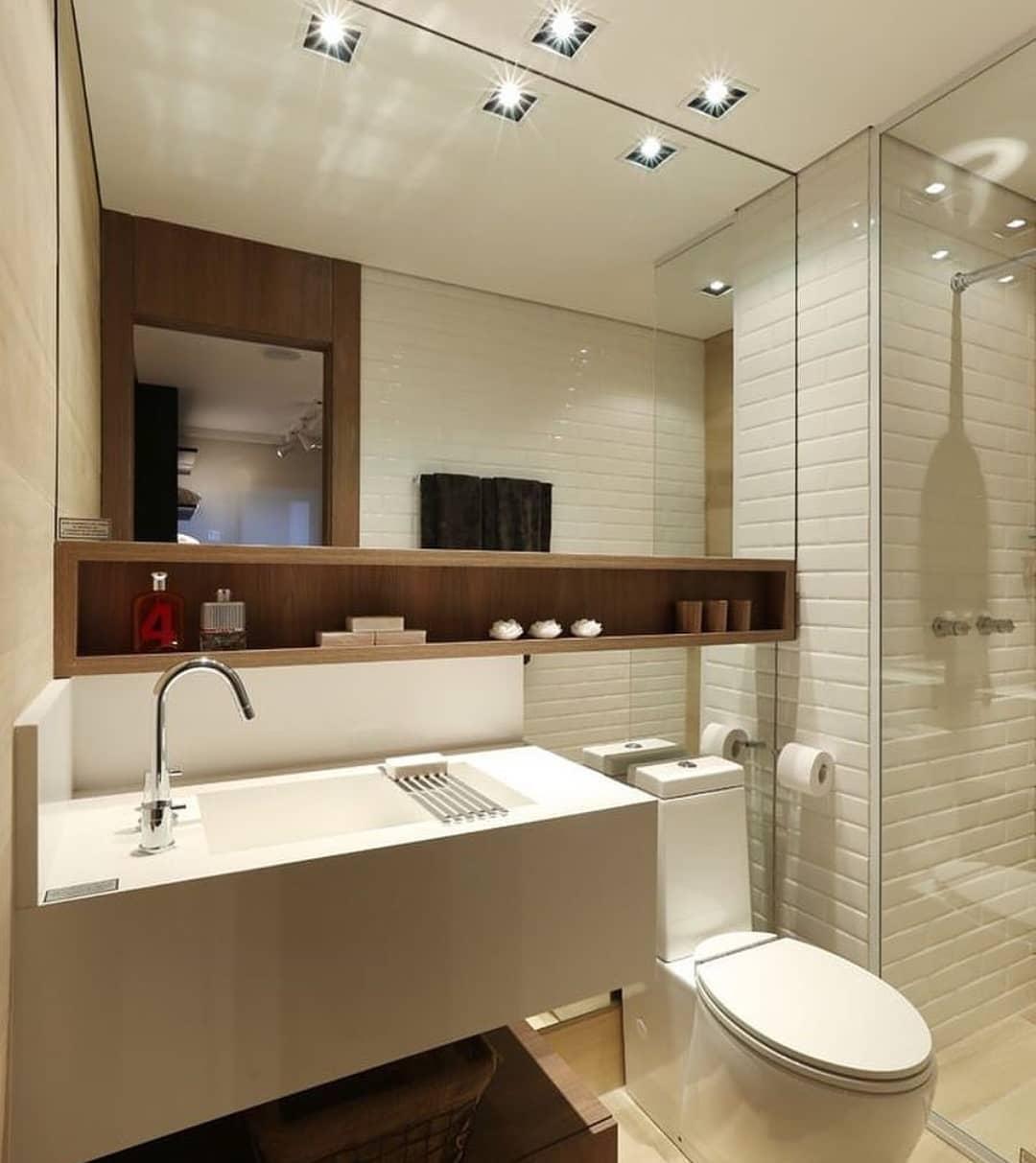 Banheiro com cuba esulpida