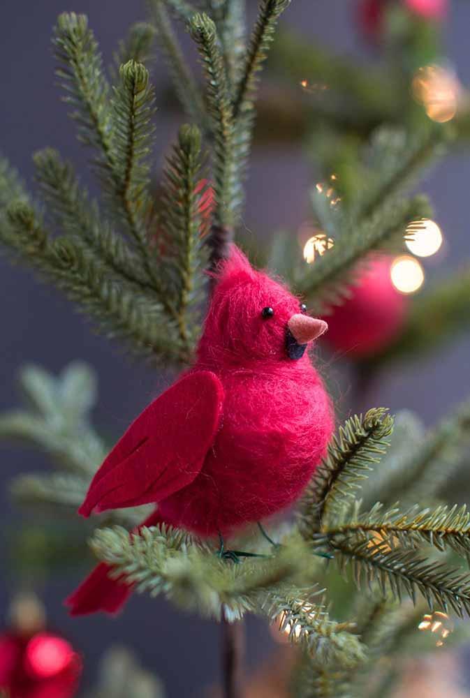 Crie alguns enfeites de bichinhos para colocar na árvore de natal