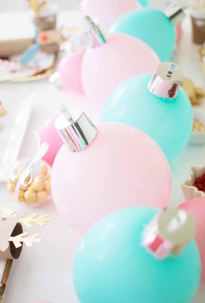As bolas são itens indispensáveis na decoração de natal