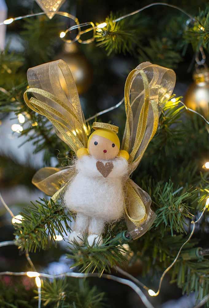 Os anjos também fazem parte da decoração de natal