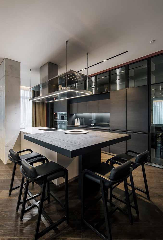 Elegância e sofisticação na composição dos móveis