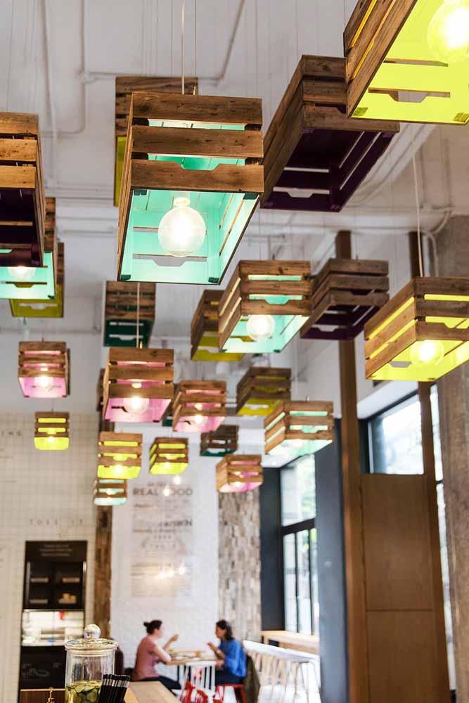 Luzes para iluminar o ambiente