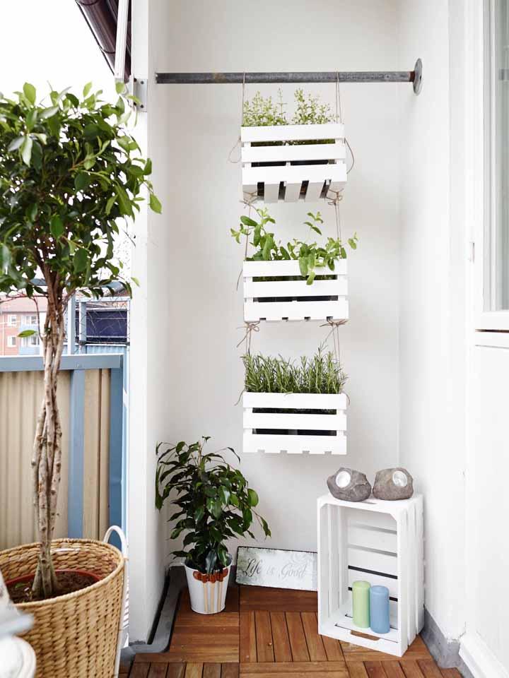 Sabia que os caixotes também podem ser ótimos para colocar as suas plantas?