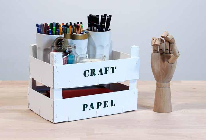 Organize seu material de trabalho