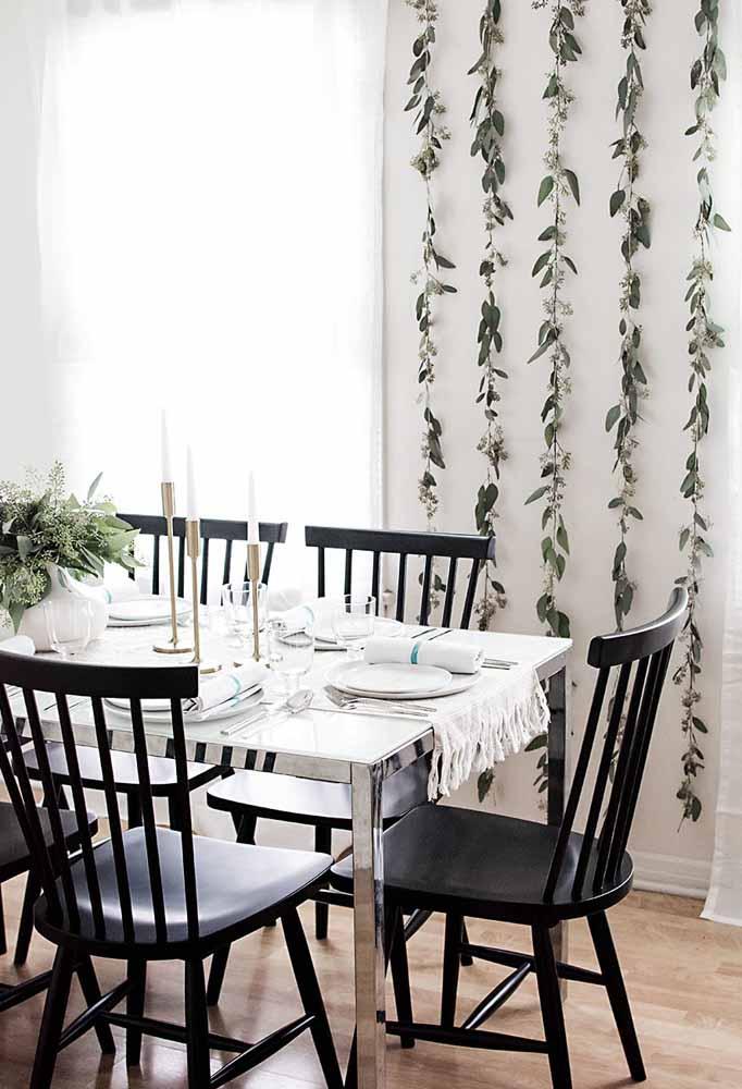 Fuja das cores tradicionais do natal e faça combinações de preto com branco