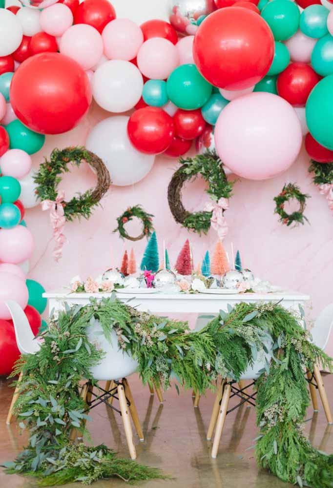 A festa de natal fica ainda mais linda com todo esse colorido
