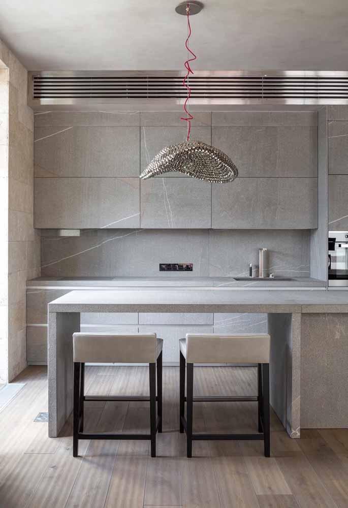 Design elegante para uma cozinha luxuosa na medida certa