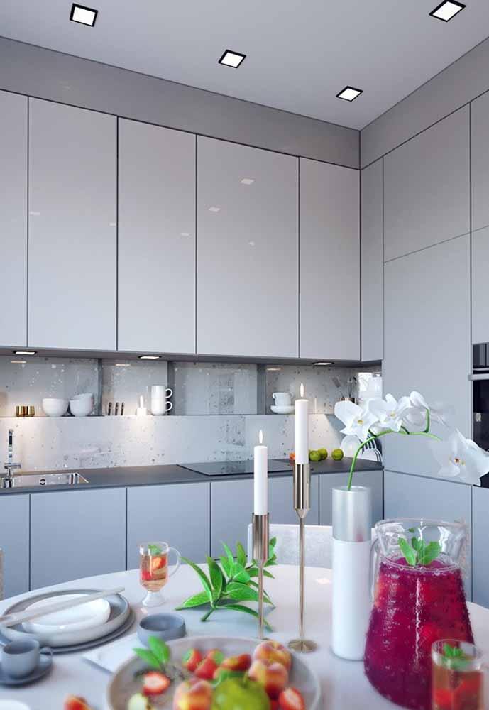 Aposte na simplicidade dos móveis branco com cinza