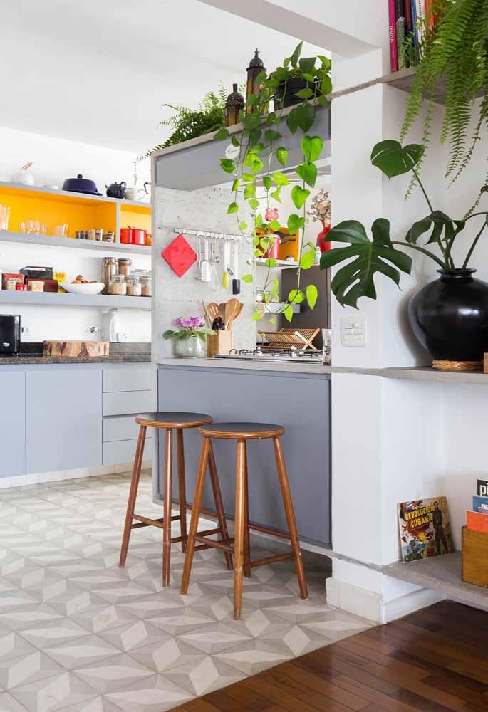 Leve as suas plantas para a cozinha e deixe o ambiente mais leve e gracioso