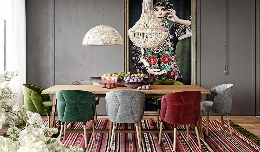 Como escolher o tapete para sala de jantar