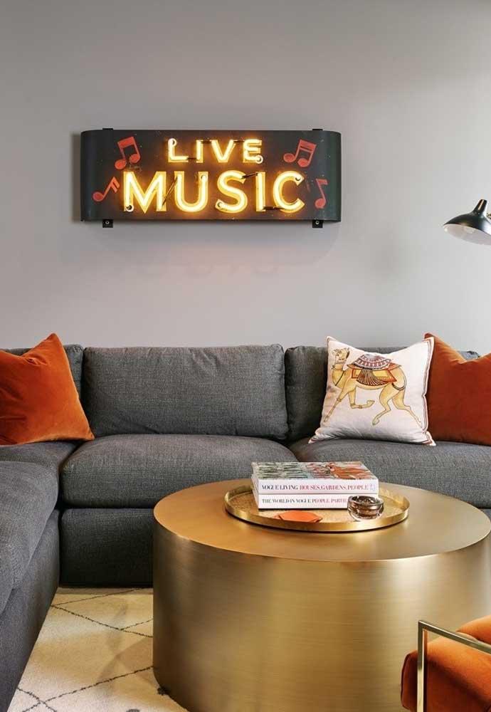 Se você gosta de música, nada melhor do que decorar o ambiente com o seu estilo