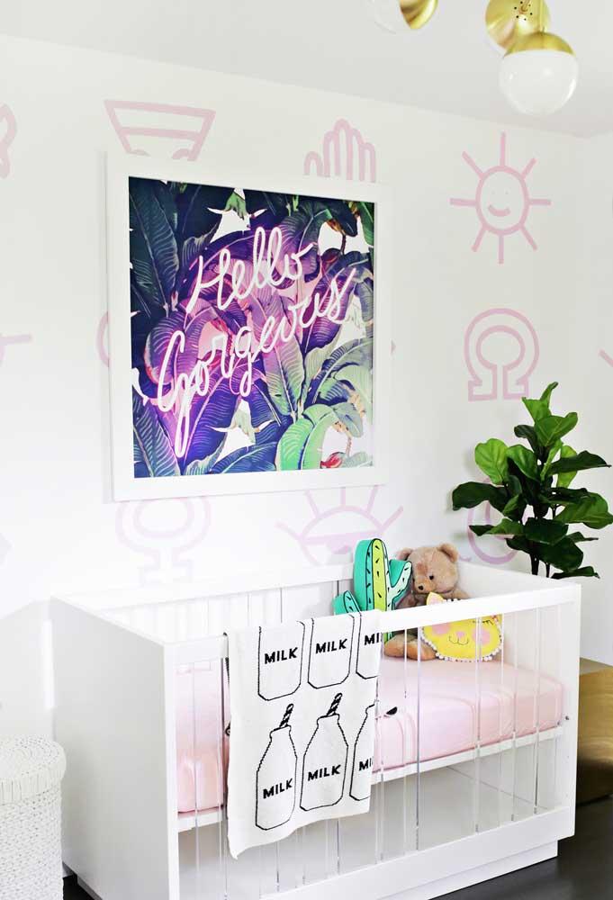 Que tal preparar um quadro incrível para colocar no quarto do bebê?