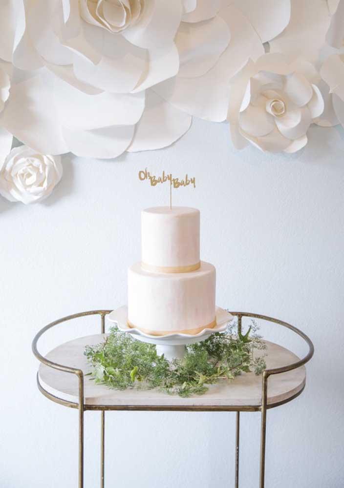 As mamães mais sofisticadas vão amar esse bolo estiloso