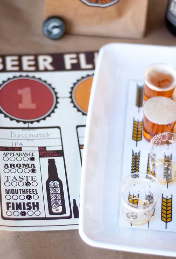 Para animar os convidados prepare algumas brincadeiras que envolvam as principais bebidas que serão servidas na festa.
