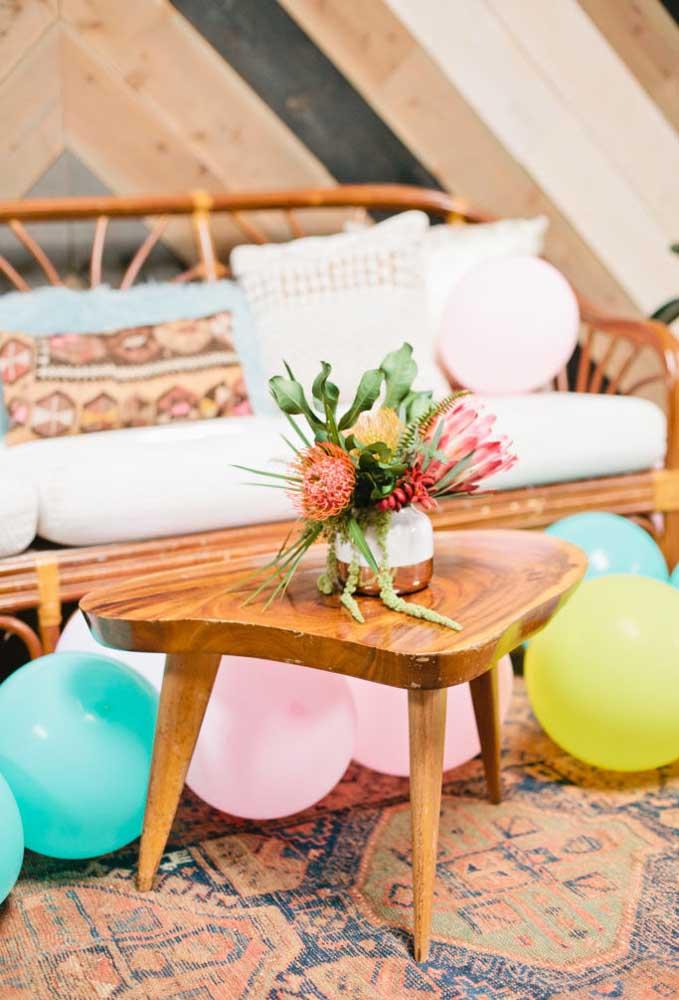Espalhe balões pelo salão