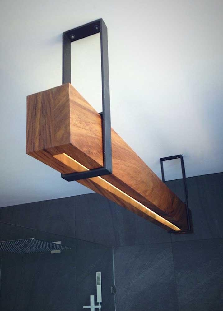 Conceito moderno e minimalista para a luminária de teto