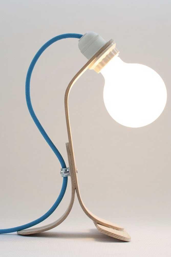 Uma luminária delicada para colocar na mesa
