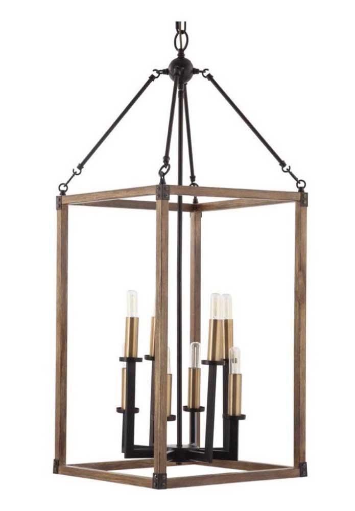 Sabe aquelas luminárias antigas? Você pode fazer uma de madeira